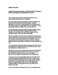 of mice and men friendship theme essay of mice and men theme essay  of mice and men friendship theme essayof mice and men theme essay nwostemresources org
