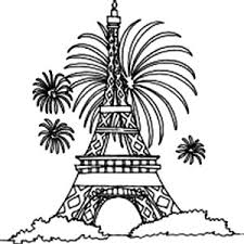 Small Picture Fireworks and Eiffel Tower Coloring Page Fireworks and Eiffel