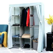 portable clothes closet storage organizer fabric wardrobe cabinet rack home furniture for drying