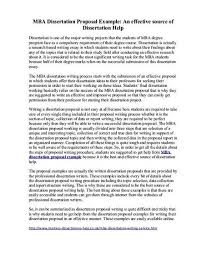 Writing A Proposal Example Sample Proposal For Dissertation In Economics