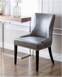 grey leather dining chairs abbyson newport grey leather nailhead trim dining chair gdggnlc