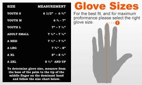 Nike Glove Size Chart Images Gloves And Descriptions