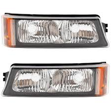 2006 Silverado Parking Light Bulb Driver And Passenger Park Signal Front Marker Lights Lamps Lenses Replacement For 2003 2006 Silverado Avalanche Pickup Truck 15199556 15199557