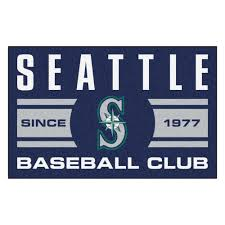 fanmats mlb seattle mariners navy blue 2 ft x 3 ft area rug 18483 the home depot
