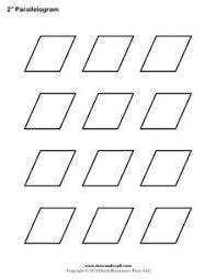 1.5-Inch Diamond / Rhombus. Printable Diamond Outline ... & 2 inch parallelagram english paper piecing, free printable template Adamdwight.com