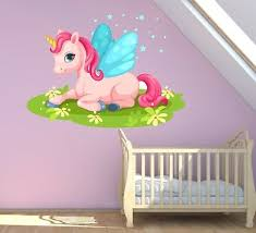 unicorn girly wall sticker art decal