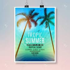 熱帯の夏のビーチ パーティーのフライヤー デザインポスターの夏の休暇