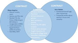 comparison contrast essay enc c prof forbes research venn diagram angelou walker example