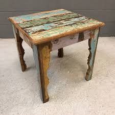 reclaimed wood side table  nadeau nashville
