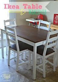 a mommy s life with a touch of yellow ikea kitchen table makeover tutorial