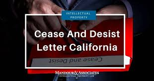 cease and desist letter california