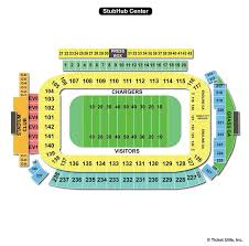 Chargers Stadium Seating Chart Stubhub Center Carson Ca Seating Chart View