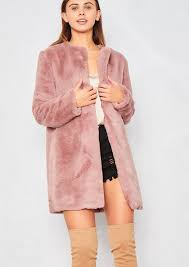 giovanna pink faux fur coat