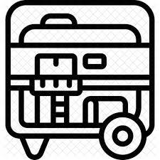 power generator icon. Contemporary Power Portable Generator Icon On Power E