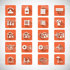 heating cooling icon. heating and cooling icons royalty-free stock vector art icon