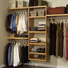 shelving system in honey maple photo of