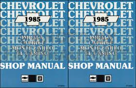 gmc caballero service manuals shop owner maintenance and 1985 chevy car repair shop manual reprint impala caprice bu monte carlo el camino gmc