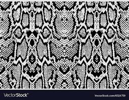 Python Pattern Inspiration Snake Python Skin Texture Seamless Pattern Black Vector Image