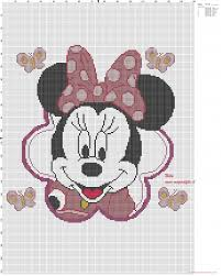 Minnie Mouse Pillow Free Cross Stitch Patterns Simple