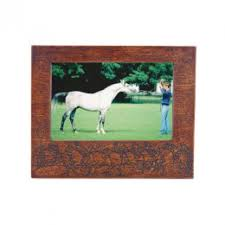 wooden horse racing photo frame frames figurines home accents home living homeware