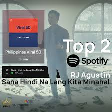 Spotify Charts Philippines Firestarters Productions Inc Rj Agustin Tops Spotify Charts