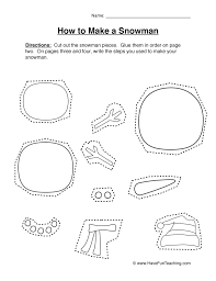 making a snowman worksheet | Have Fun Teaching