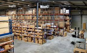 a warehouse for spare parts for cars