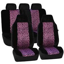 fabric 21 in x 20 in x 2 in leopard full set seat