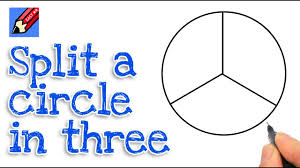 How to split a circle into three real easy step by step - YouTube