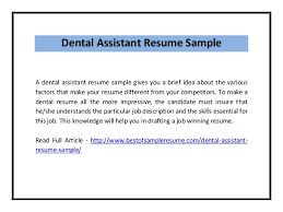 Resume Examples For Dental Assistant | Resume Examples And Free