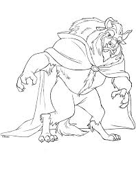 Beauty And The Beast Coloring Pages Coloring Home