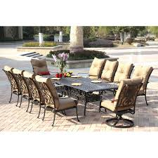 darlee santa anita 11 piece cast aluminum patio dining set