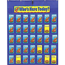 Who S Here Today Chart Printable Amazon Com Attendance Pocket Chart For Classroom Office