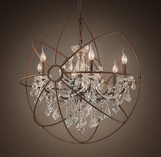 beautiful mix of contemporary traditional in this light fixture within orb chandelier with crystals plan 16 dining room foucault s