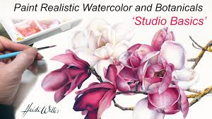 tutorial paint realistic watercolor and botanicals studio basics you