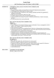 Real Estate Transaction Coordinator Resume Samples Velvet Jobs