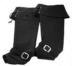 deluxe black vinyl men s boot covers