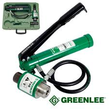 greenlee tools logo. greenlee hydraulic punch driver with hand pump tools logo