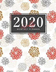 2020 Weekly Appointment Book 2020 Weekly Monthly Planner Hand Drawn Flowers Cover Daily