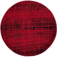 adirondack red black 4 ft x 4 ft round area rug