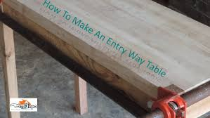 Pallet Entry Table How To Make A Pallet Wood Entry Way Table For Free Youtube