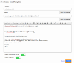 Customize Email Templates In Work Orders App Apptivo Faq