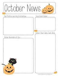 october newsletter ideas october newsletter template preschool teacher preschool