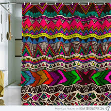 colorful shower curtains. Contemporary Curtains Poncho Shower Curtain For Colorful Curtains E