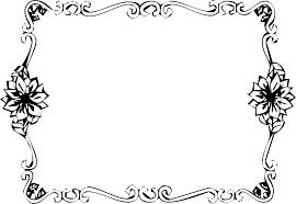 白黒モノクロの花のイラストフリー素材フレーム枠no808白黒金属