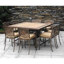 high outdoor dining chair. chateau patio high dining set - 9 pc. outdoor chair