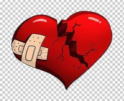 broken heart love cartoon png clipart