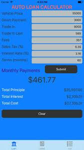 Car Loan Calculator Auto Loan Lease Calculator App Price Drops