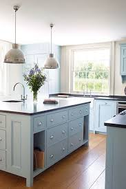 painted blue kitchen cabinets house: light blue kitchen units painted in dufour by zoffany in kitchen cabinets amp units