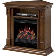 image of corner electric fireplace with mantel 2016